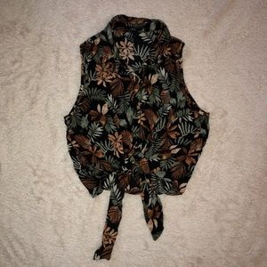 Forever 21 Cropped Floral Top